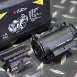 SOTAC T2 風格 紅綠光 內紅點 快瞄鏡 附GE一體鏡座 黑色 GZ-T2-BK