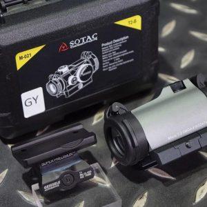 SOTAC T2 風格紅綠光 內紅點 快瞄鏡 附GE一體鏡座 灰色 GZ-T2-GY