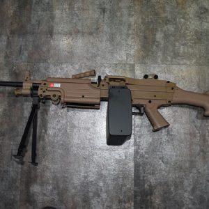 A&K M249 MK2 AEG 電動槍 機槍 沙色 AK-MK2-DE
