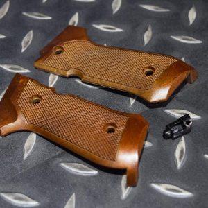 WE M9  #79 #80 #81 號原廠零件 木紋握把片 仿木