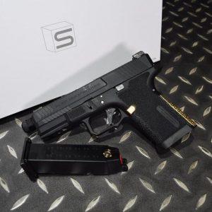 EMG SAI BLU G19 COMPACT 瓦斯手槍 真槍授權 WE系統 金色握柄