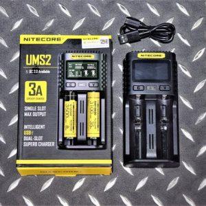 Nitecore UMS2 18650 CR123 充電電池 USB雙槽 智能快速充電器 NIT-01
