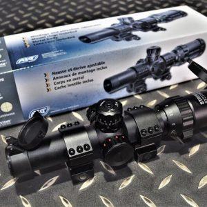 ASG Short Dot 瞄準鏡 狙擊鏡 1-4×24 抗震 紅色/綠色十字標線