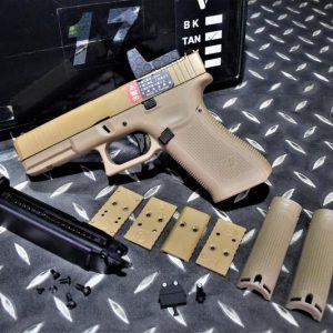 WE G17 GEN5 RMR G45 金屬滑套 瓦斯手槍 GBB 沙色 WE-G45-MOS-DE