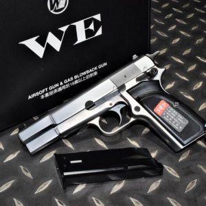 WE 白朗寧 MK3 HI-POWER BROWNING 全金屬 GBB 瓦斯手槍 銀色 WE-MK3-SV