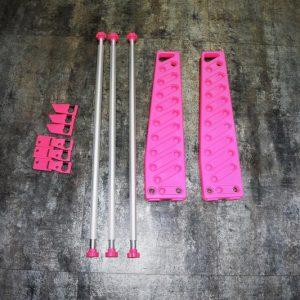 強化塑膠 長槍 瓦斯槍 CO2 電槍 BB槍 展示架 大 粉紅色 JDT398-PK
