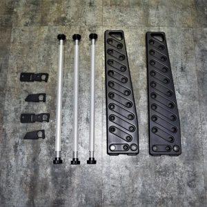 強化塑膠 長槍 瓦斯槍 CO2 電槍 BB槍 展示架 中 黑色 JDT399-BK