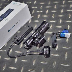 Olight Odin Mini 迷你 奧丁1250流明 240米 戰術槍燈 M-LOK 附鼠尾 磁吸充電 手電筒 黑色 OL-49