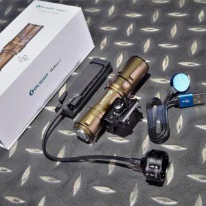 Olight Odin Mini 迷你 奧丁 1250流明 240米 戰術槍燈 M-LOK 手電筒 可換20mm魚骨 沙色 OL-50