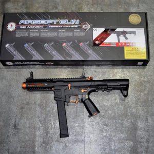 G&G 怪怪 ARP-9 ARP9 9mm 造型 AEG 電動槍 3發點放 電子扳機 無附魚骨片 黑橘色