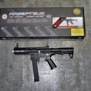 G&G 怪怪 ARP-9 ARP9 9mm 造型 AEG 電動槍 3發點放 電子扳機 無附魚骨片 黑銀色