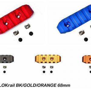 SLONG 神龍 M-LOK 鋁合金 寬軌道 68mm 短版 全金屬魚骨片 多色可選 SL-0804