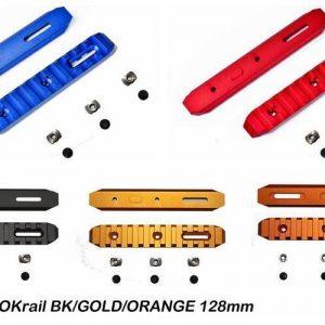 SLONG 神龍 M-LOK鋁合金 寬軌道 步槍 128mm全金屬魚骨片 多色可選-SL-0803