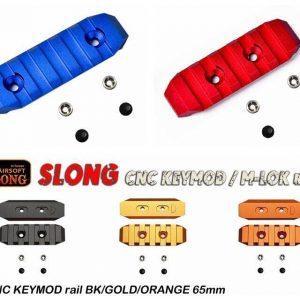 SLONG 神龍 KEYMOD 鋁合金 寬軌道 手槍 65mm 全金屬魚骨片 多色可選-SL-0802