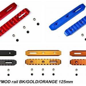 SLONG 神龍 KEYMOD 鋁合金 寬軌道 125mm 全金屬魚骨片 多色可選 SL-0801