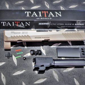 TAITAN VFC M18 KA P320 Cerakote 鋼滑套 鋼外管套件 沙色 TA-M18-DE