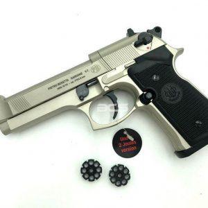 UMAREX BERETTA M9 M92 拋光烙轉輪 4.5mm 霧銀色 CO2 手槍 UM45CN17