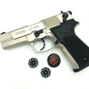 UMAREX WALTHER 華瑟 CP88 鎳轉輪 4.5mm 霧銀色 CO2手槍-UM45CN15