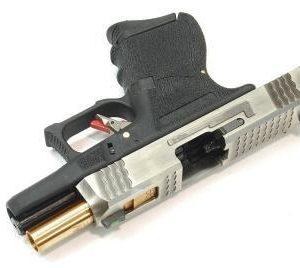 WE WET G26 烙印戰鬥版 金屬 瓦斯 手槍 銀滑套 金槍管 黑色握把 原力 WE-G26-SGB