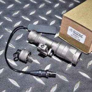 SOTAC M340V 爆閃 戰術槍燈 電筒 快拆底座 附鼠尾 沙色 SD-079-DE
