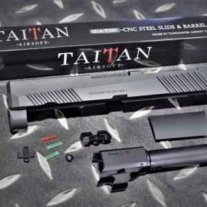 TAITAN VFC M18 KA P320 Cerakote 鋼滑套 鋼外管套件 黑色 TA-M18-BK