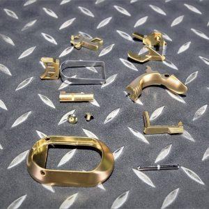WE AW 通用 5.1 4.3 3.8 龍 HI-CAPA 扳機 握把螺絲 襯裙 卸彈匣鈕 保險 滑套釋放鈕 擊錘 零件組 鍍金色