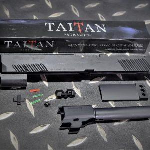 TAITAN VFC M17 KA P320 Cerakote 鋼滑套 鋼外管套件 黑色 TA-M17-BK