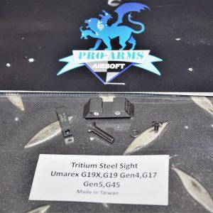 PRO-ARMS VFC UMAREX G17 G19 氚氣自發光 鋼製準星照門組 PRO-G19X-STS