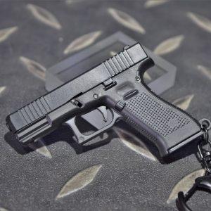 GLOCK G45 1:4 模型手槍 滑套可動 彈匣可卸 造型鑰匙圈 迷你鑰匙圈 小吊飾 WJ-G45BK