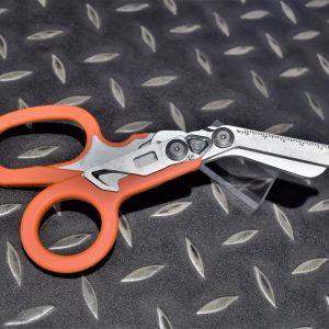 EMT 六合一戰術折疊剪刀 多功能救援剪 醫療剪刀 玻璃擊破 戶外急救工具 橘色 JDT455-OG