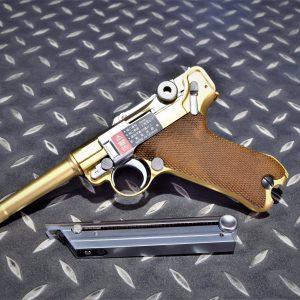 WE 魯格 LUGER RUGER P08 P08S 瓦斯手槍 GBB 短版 金色 WE-P007