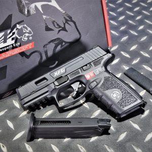 ICS 一芝軒 BLE-XFG GBB 瓦斯手槍 夜光照門 戰術軌道 黑色 BLE-005-SD2A