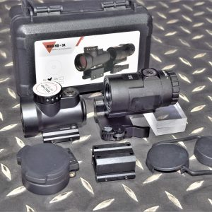 MRO風格 紅膜 內紅點 快瞄 HD分化+3X Magnifier 3倍側翻鏡 No logo MRO-HD3X-BK