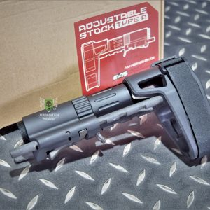 ARES SBR 樣式 M4 AR PDW 槍托 後托 伸縮托 黑色 AM-ABS005-BK