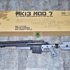 ASG ARCHWICK MK13C MOD7 美軍 空氣手拉狙擊槍 AI真槍廠授權 Keymod 灰色