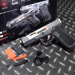 WE G17 CNC GBB 瓦斯 手槍 JDG P80 炙燒握把 客製成槍組 黑色