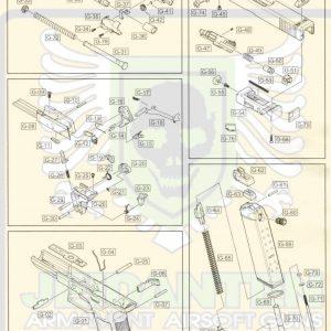 WE G17 GBB 瓦斯手槍 原廠零件 爆炸圖