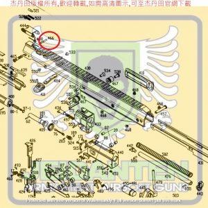 KWA KSC MASADA 零件 #466 準星做插銷 原廠零件