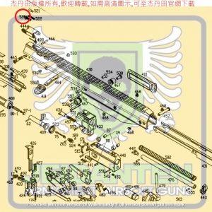 KWA KSC MASADA 零件 #520 準星零件 原廠零件