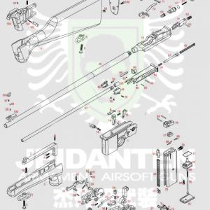 WE M712 Carbin 卡賓版 騎兵槍 盒子炮長版 原廠零件 爆炸圖 零件下標區