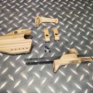 FLUX GLOCK 17 G17 G18 短槍用伸縮托戰術套件 附專用槍套 沙色