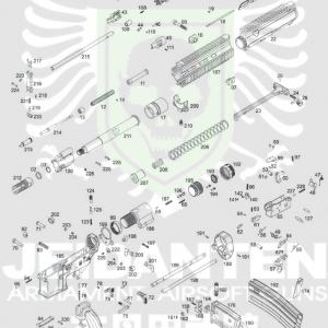 WE 888C HK416C HK 416 C 原廠零件 爆炸圖 零件下標區