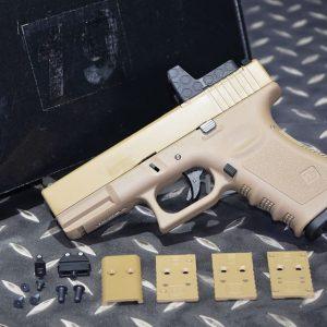 WE GLOCK G19 GEN3 RMR 為模型無功能 A版 金屬滑套 瓦斯手槍 GBB 沙色 MOS