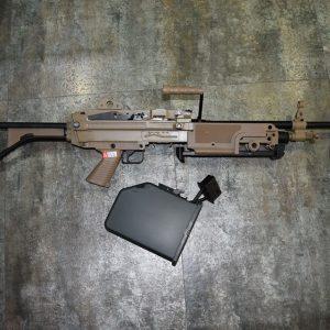 A&K M249 MK1 AEG 電動槍 機槍 沙色 AK-MK1-DE