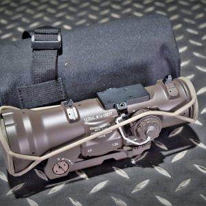 複刻 Elcan 風格 Specter DR 1.5-6X 火車頭瞄準鏡 附貓頭鷹底座 沙色