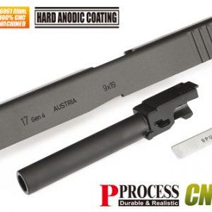 警星 GUARDER MARUI GLOCK G17 GEN4 CNC鋁合金滑套/鋼製外管組 黑色 GLK-221(BK)