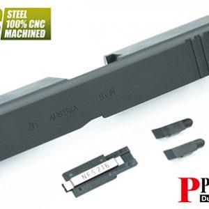警星 MARUI G26 Gen3 CNC鋼製滑套 標準型 黑色 GLK-74(BK)