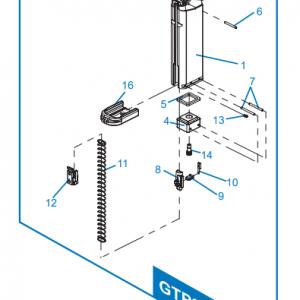 G&G 怪怪 GTP9 SMC9 GBB 彈匣灌氣閥 GFX-A04 #14 號 原廠零件