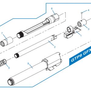 G&G 怪怪 GTP9 SMC9 GBB HOP 下壓鋼珠 GFX-A08 #4 號 原廠零件