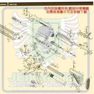 KWA/KSC HK416D GBB 瓦斯槍 維修 原廠零件 爆炸圖 訂購區